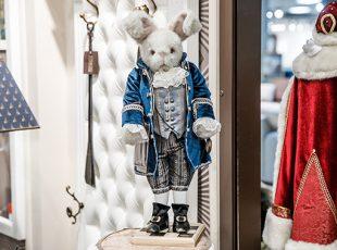 статуэтка белый кролик