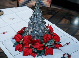 Елка новогодняя серебрянная