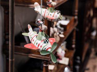 Елочная игрушка Лось-летчик