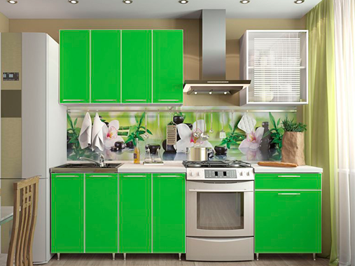 Кухня Колор №2 (зеленый)