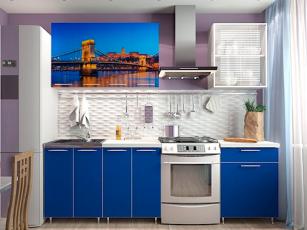 Кухня Морской мост/синий
